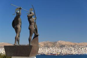 Jedyny pomnik poświęcony pamięci obrońców Salaminy...